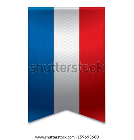 Realistic vector illustration of a ribbon banner with the dutch flag. Could be used for travel or tourism purpose to the country netherlands in europe. - stock vector