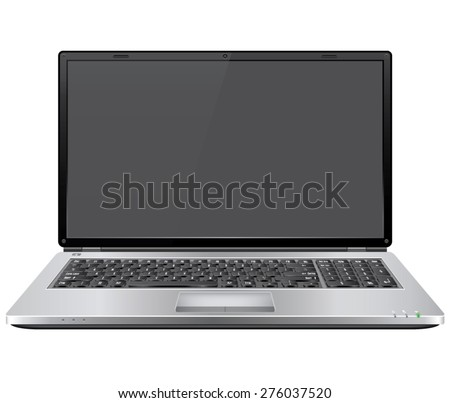 Realistic Vector Laptop