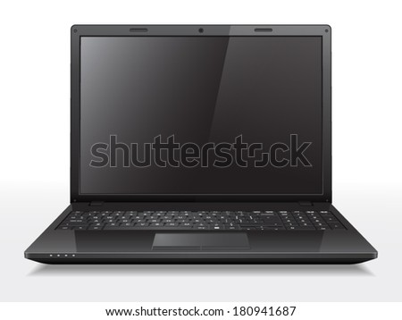 Realistic vector laptop. File is in eps10 format.