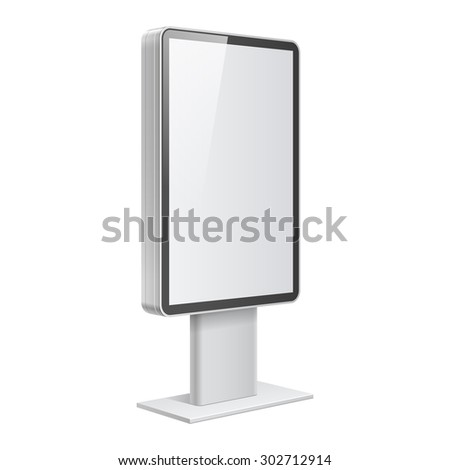 Realistic vector light box template on white background - stock vector