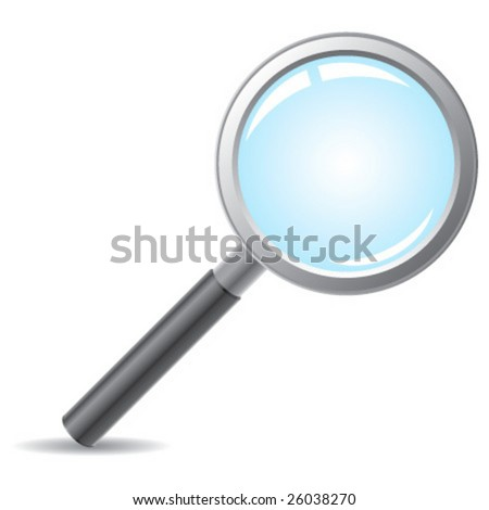 Realistic vector magnifying glass without mesh