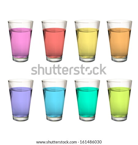 Realistic water glass. Vector design  - stock vector