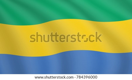 Gabonese stock images royalty free images vectors shutterstock realistic waving flag of gabon current national flag of gabonese republic illustration of lying sciox Gallery
