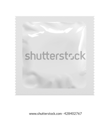 Realistic White Blank template Packaging Foil wet wipes Pouch Medicine Or Condom. Food Packing Coffee, Salt, Sugar, Pepper, Spices, Sweets. Template For Mock up Your Design. vector illustration.
