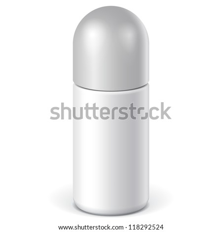 Realistic White Cosmetics bottle can Spray, Deodorant, Air Freshener. Vector illustration - stock vector