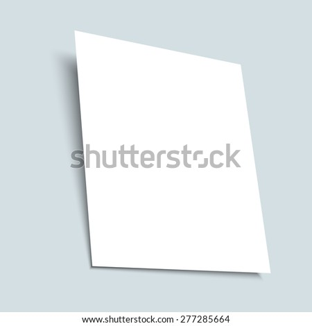 Realistic white empty sheet of paper. Vector EPS 10 - stock vector