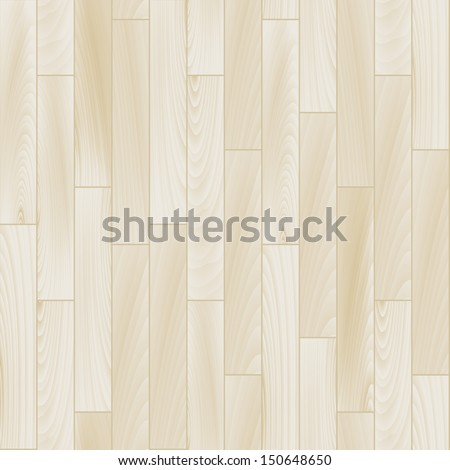 Realistic white wooden floor seamless pattern, vector - stock vector