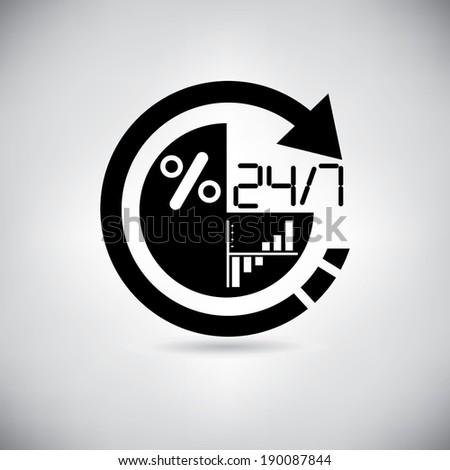 realtime data analysis - stock vector