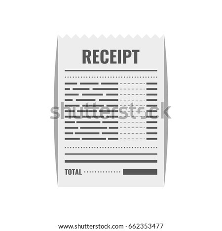 receipt icon invoice sign bill atm stock vector royalty free