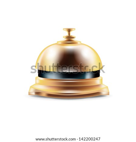 reception bell isolated on white background