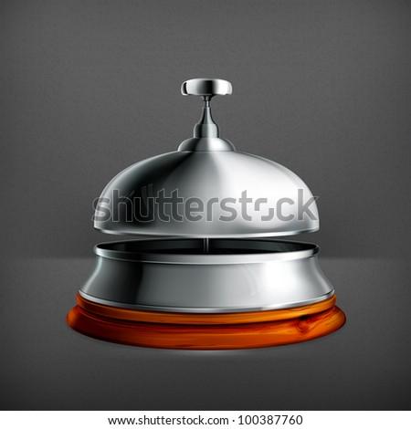 Reception Bell, vector - stock vector