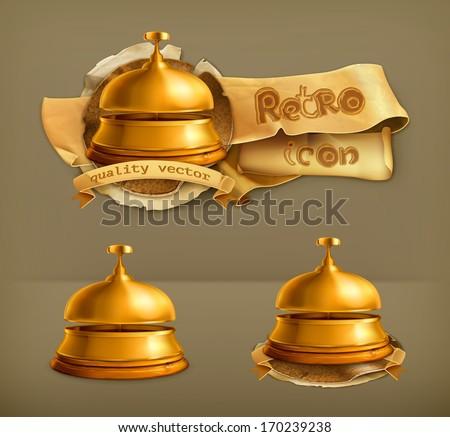 Reception Bell, vector icon - stock vector