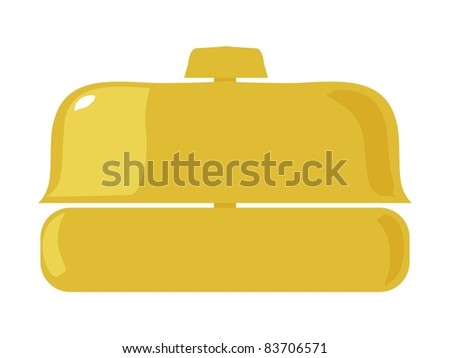 Reception bell. Vector illustration - stock vector