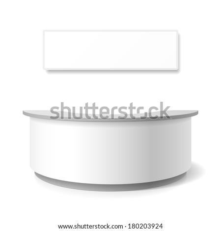 Reception, exhibition counter. Vector. - stock vector