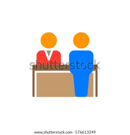 Reception Icon Vector Filled Flat Sign Stock Vector 576613249