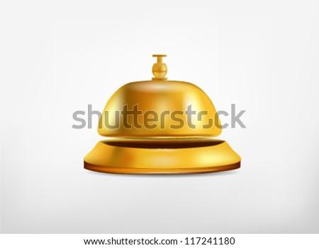 Reception Ring Bell - stock vector