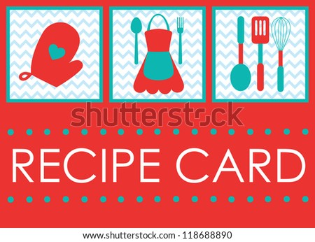 recipe card design. vector illustration - stock vector
