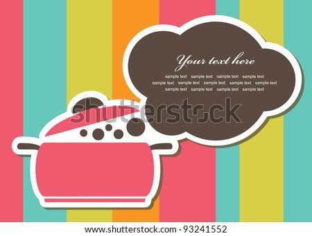 recipe card. vector illustration - stock vector