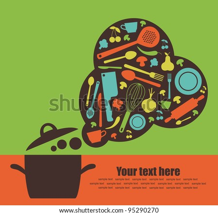 recipe card. vector illustration - stock vector
