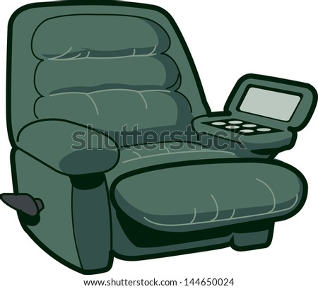 Reclining Chair Illustration - stock vector