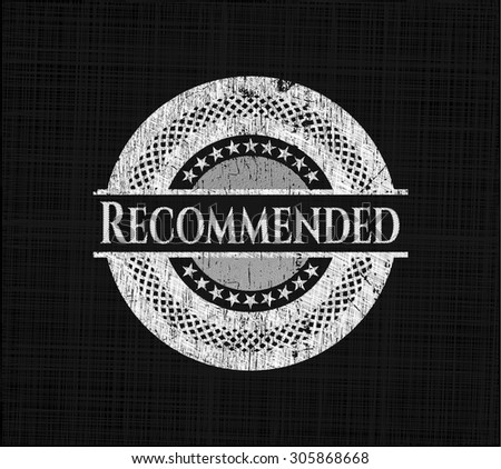 Recommended on blackboard - stock vector