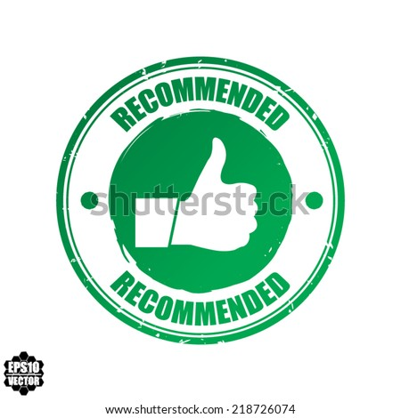 Recommended vector green stamp. - stock vector