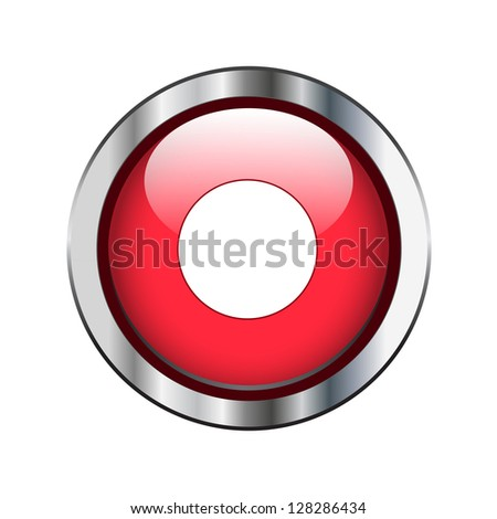 Record button on red with silver border