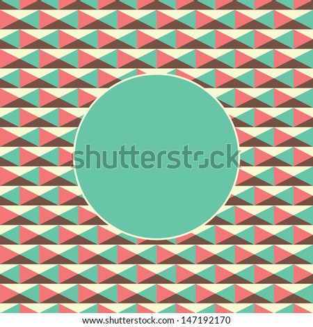 record or card cover with geometrical background - stock vector