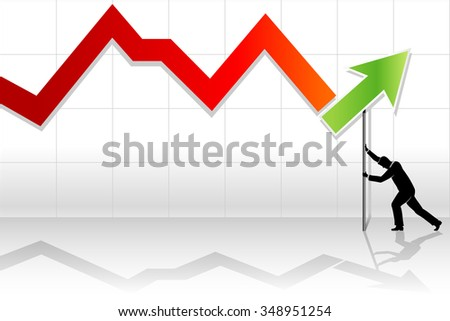 Recovery Line Graph-a man placing graph projection