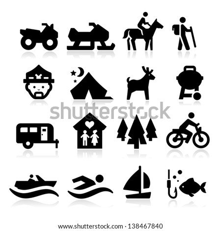 Recreation Icons - stock vector