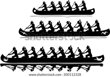Recreational vessels clip-art - stock vector