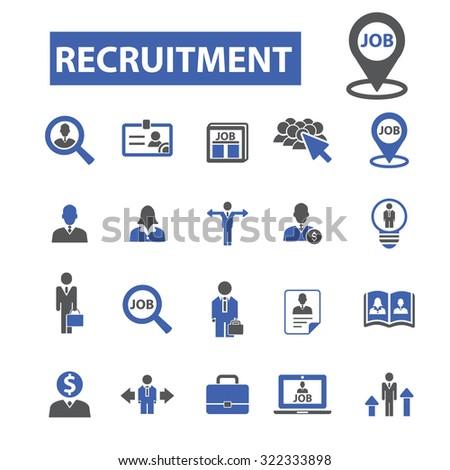recruitment icons - stock vector