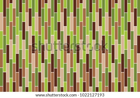 Rectangle Green And Brown Wallpaper Design Pattern Background Vector Eps10