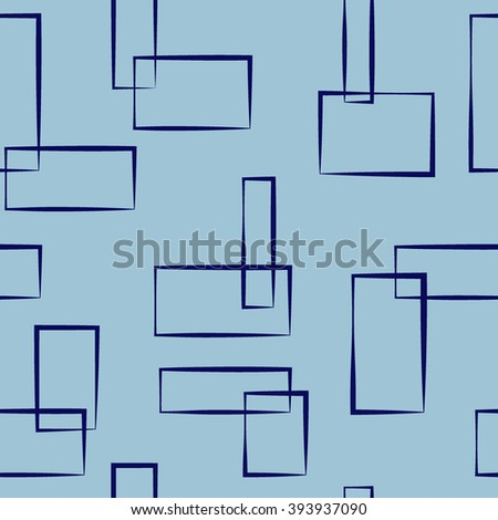 Rectangle seamless pattern.Fashion graphic background design. Modern stylish abstract texture.Colorful template for prints, textiles, wrapping, wallpaper, website etc. VECTOR illustration - stock vector