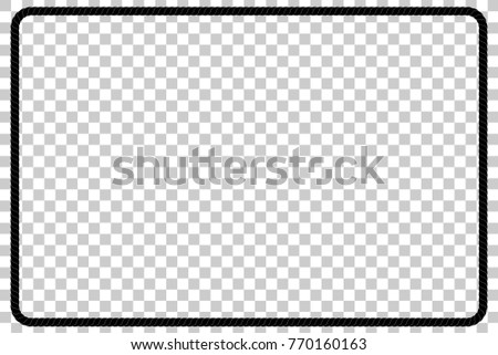 Rectangle Shape Frame Black Rope Your Stock Vector 770160163 ...