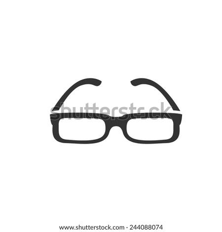 rectangle shape glasses icon. Vector illustration. - stock vector