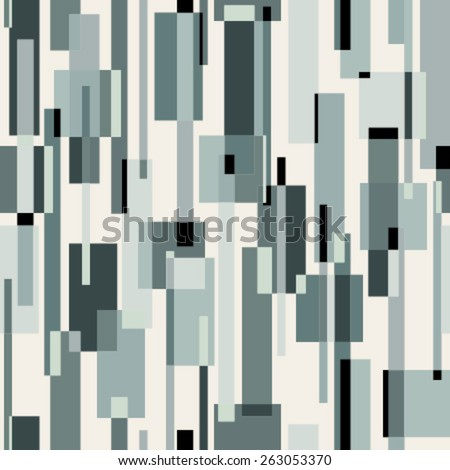 rectangles green on beige seamless pattern - stock vector