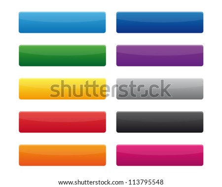 Rectangular buttons - stock vector