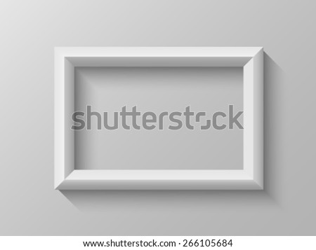 Rectangular frame with bevel - stock vector