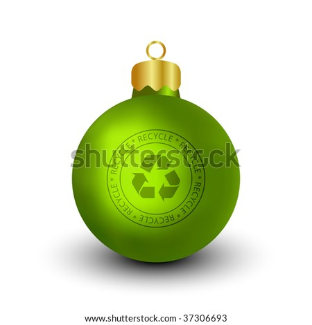 Recyclable Christmas Bauble (Vector) - stock vector