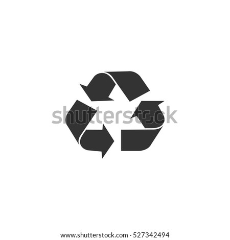 Recycle arrow icon flat. Illustration isolated vector sign symbol