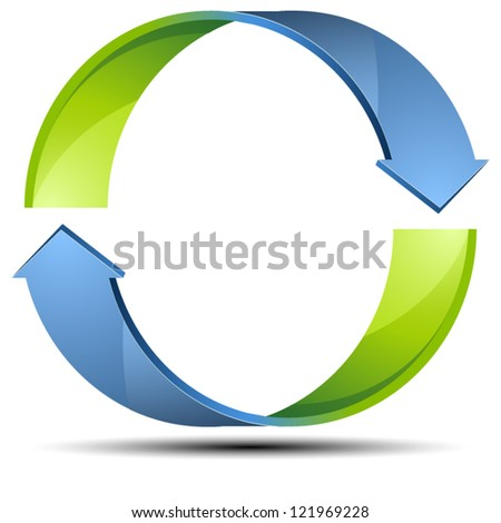 Recycle Arrow sign - stock vector