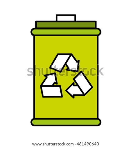 recycle arrows symbol icon vector isolated graphic