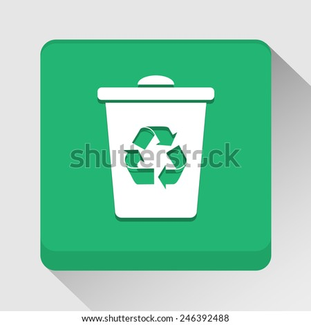 Recycle bin icon great for any use. Vector EPS10.