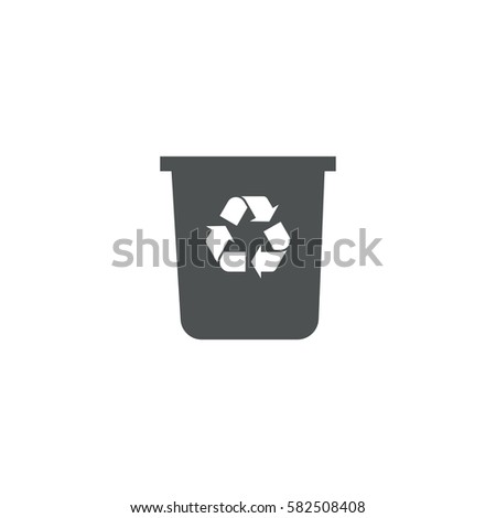 recycle bin icon. sign design