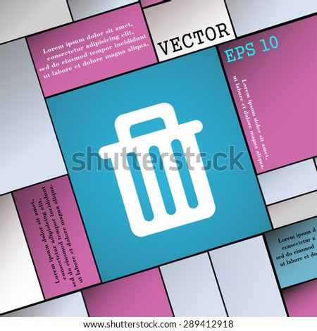 Recycle bin icon sign. Modern flat style for your design. Vector illustration - stock vector