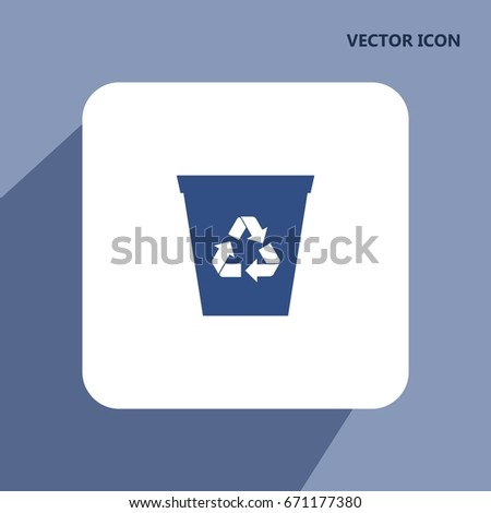 recycle bin vector icon