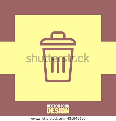 Recycle bin vector icon. Garbage sign line vector icon. Trash can vector icon.