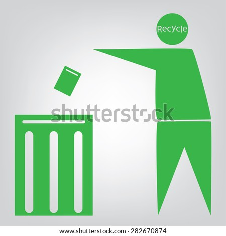 recycle bin Vector Illustration. - stock vector