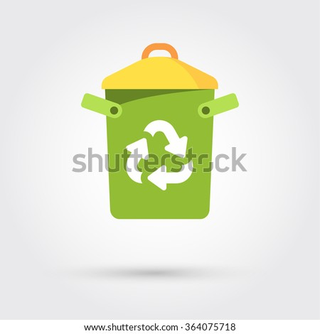 Recycle bin with recycle sign - stock vector